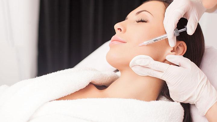 Woman Having a Baby Botox Treatment