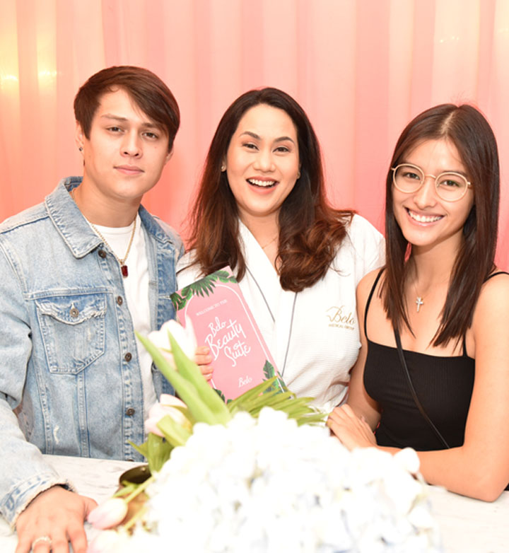 Enrique Gil and Liza Soberano with Cristalle Belo-Pitt