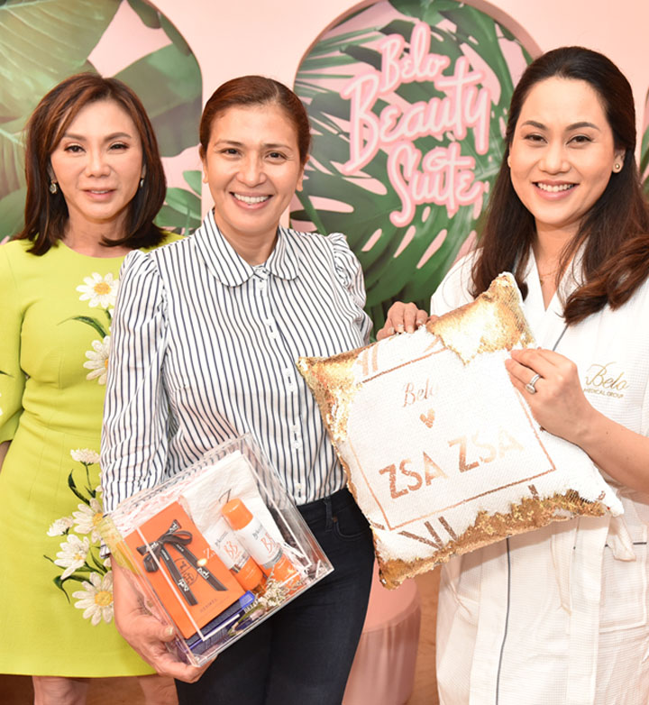 Zsa Zsa Padilla with Dr. Vicky Belo and Cristalle Belo-Pitt