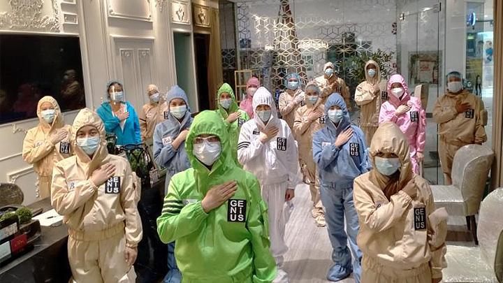 Belo Employees in Genius Gear PPE
